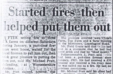 Evesham Journal re Arson Trial