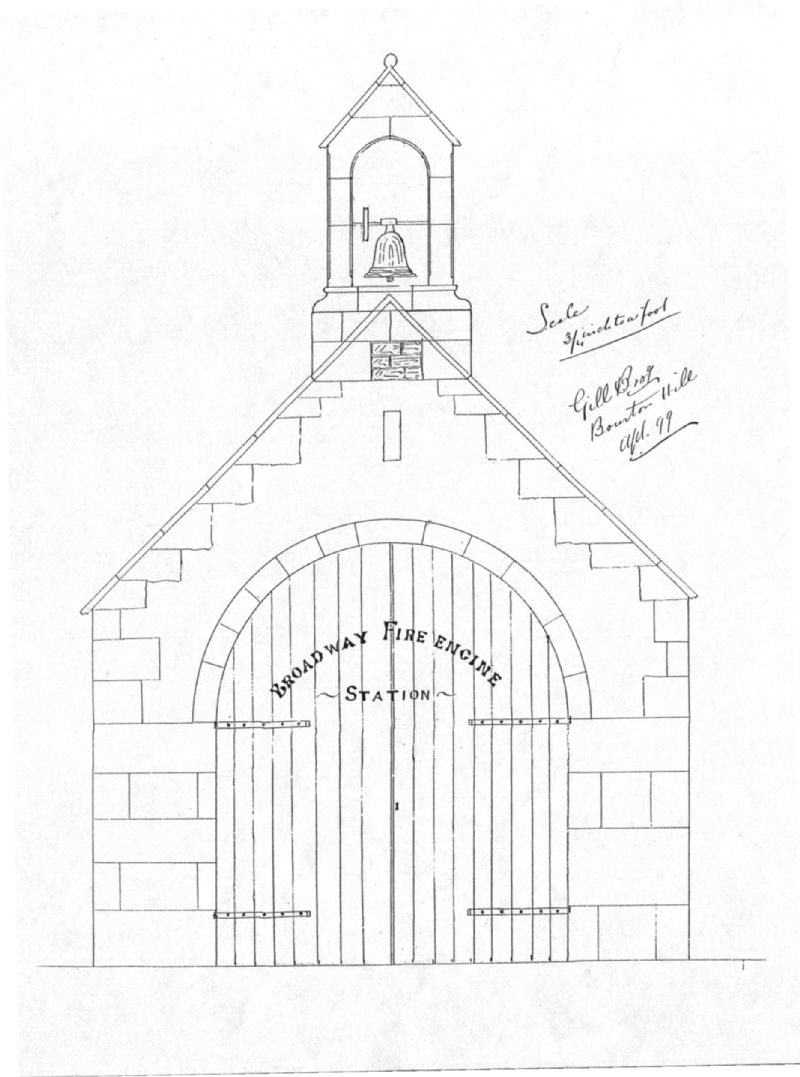 Broadway fire station 1899 showing proposed bell tower