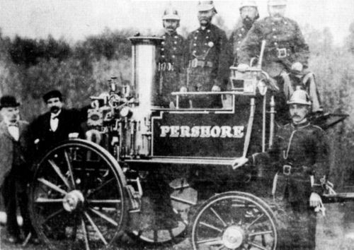 Pershore's Shand Mason Steam Fire Engine