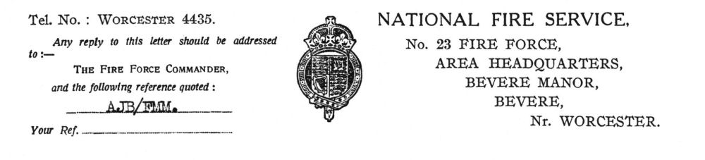 National Fire Service letter head